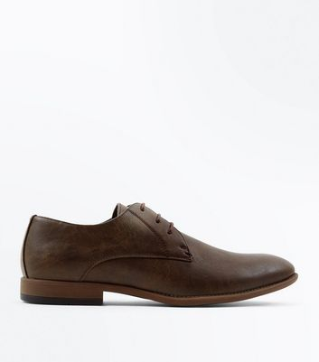 Dark Brown Stitch Side Derby Shoes