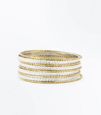 Silver and Gold Chain Bangle Pack