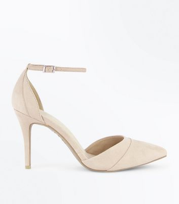 Nude Comfort Flex Suedette Pointed Court Shoes
