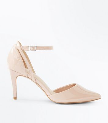 Nude Comfort Flex Patent Cut Out Pointed Courts