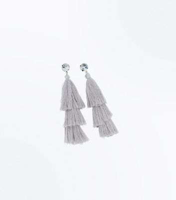 Lilac Tassel Drop Earrings