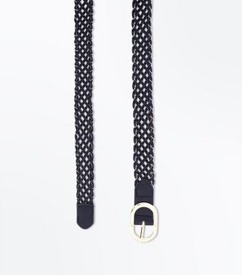 Black Plait Chain Belt