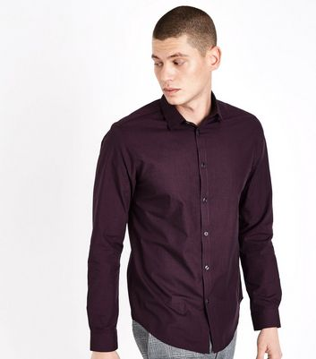 Burgundy Long Sleeve Shirt