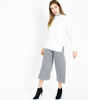Innocence Black Check Culottes