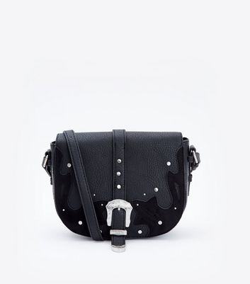 Black Western Belt Front Saddle Bag