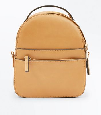 Mustard Convertible Strap Micro Backpack