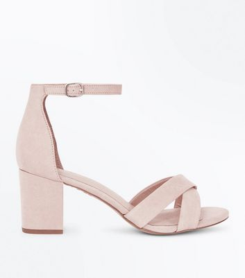 Nude Comfort Flex Suedette Cross Strap Sandals
