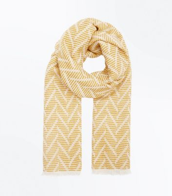 Yellow Geometric Pattern Scarf