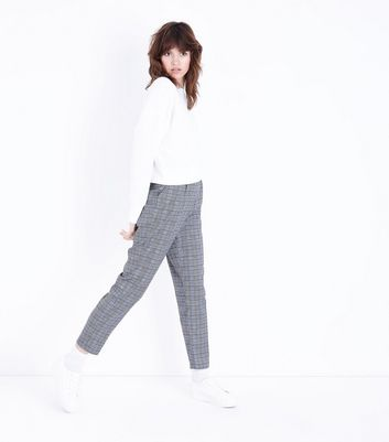 Parisian Light Grey Check Trousers