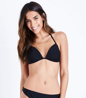 Black Moulded Triangle Bikini Top