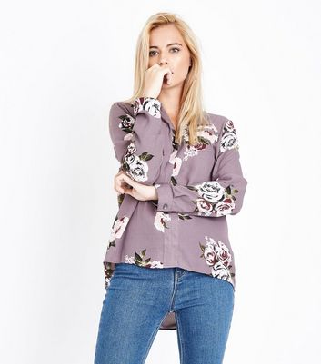 Apricot Pink Floral Print Zip Pocket Top