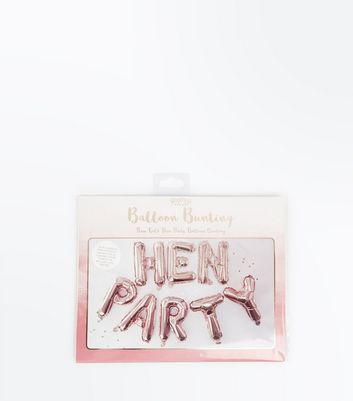Giner Ray Pink Metallic Hen Party Balloons