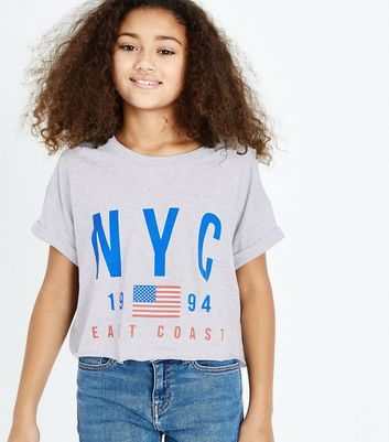 Teens Grey NYC Logo T-Shirt