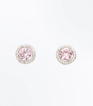 Cubic Zirconia Silver Stone Stud Earrings