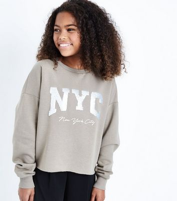 Teens Sequin Embellished NYC Sweatshirt