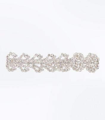 Silver Crystal Cut Out Bracelet