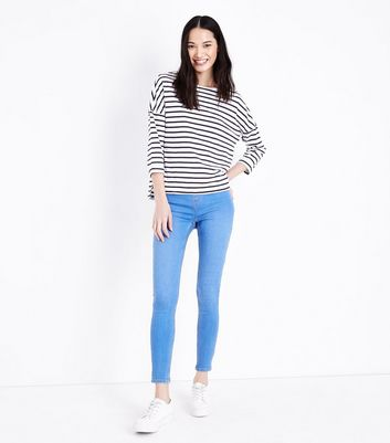 Emilee Bright Blue Jegging - Blue New Look