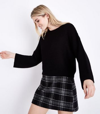 Black Wide Sleeve Jumper