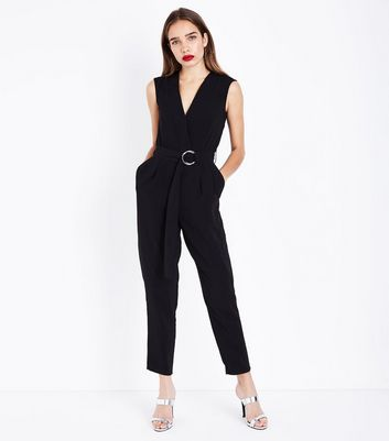 Cameo Rose Black D Ring Waist Jumpsuit
