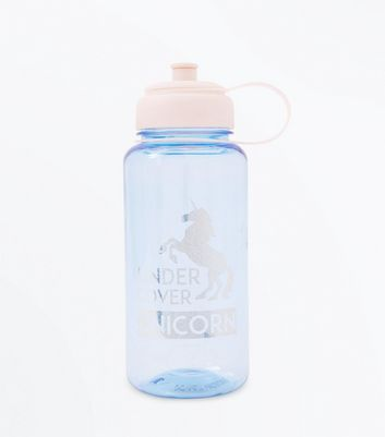 Blue Under Cover Unicorn Large Water Bottle