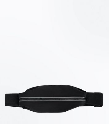 Black Zip Front Sports Bum Bag
