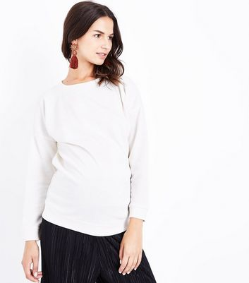 Maternity Cream Drop Arm Sweatshirt
