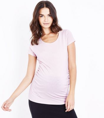 Maternity Shell Pink Short Sleeve T-Shirt