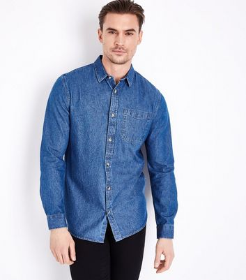 Blue Long Sleeve Denim Shirt