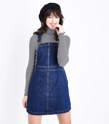 Blue Rinse Wash Denim Pinafore Dress