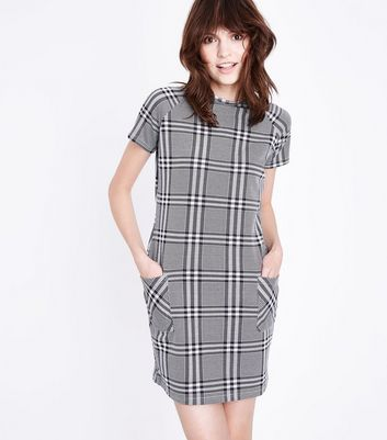 Black Check Tunic Dress