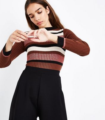 Cameo Rose Red Glitter Stripe Jumper