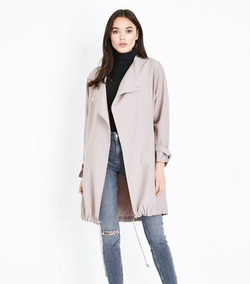Pale Pink Waterfall Duster Jacket