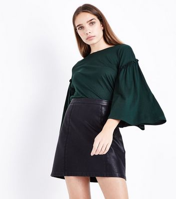 Green Frill Flared Sleeve T-Shirt