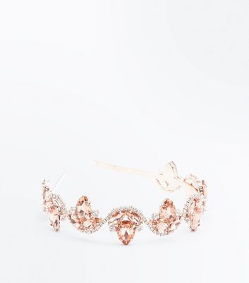 Pink Gem Embellished Hair Band