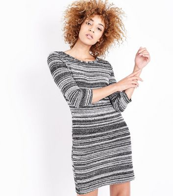 Apricot Black Boucle Stripe Tunic