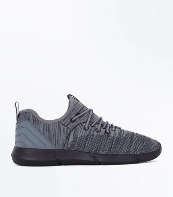 Dark Grey Marl Knit Trainers