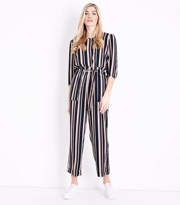 JDY Pink Stripe Paperbag Waist Trousers