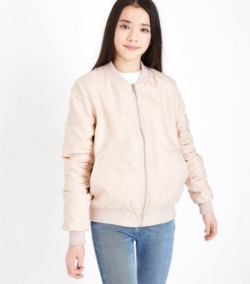 Ados - Bomber rose en satin