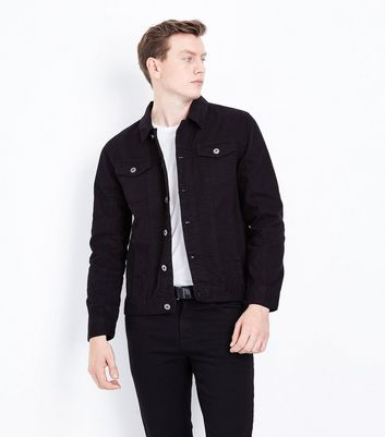 Black Collared Denim Jacket