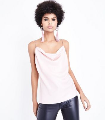 Shell Pink Cowl Neck Cami