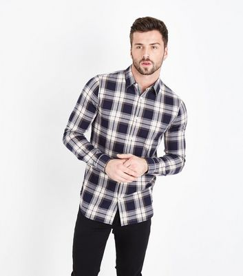 Blue Check Muscle Fit Shirt