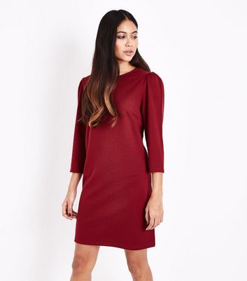 Petite Plum 3/4 Sleeve Tunic Dress