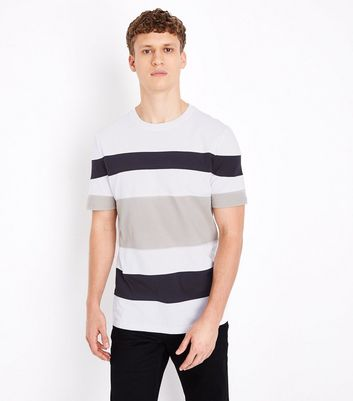 Camel Block Stripe T-Shirt