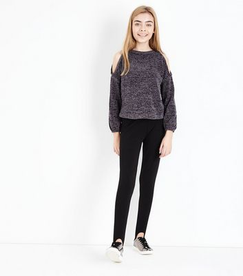Teenager – Schwarze Stegleggings