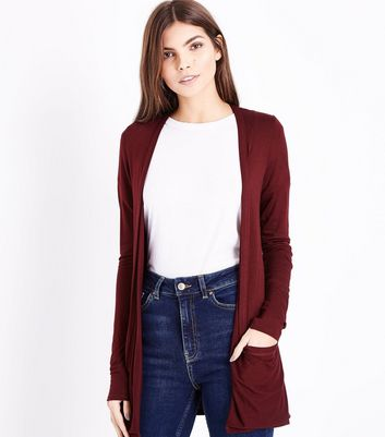 Tall - Gilet bordeaux à double poche