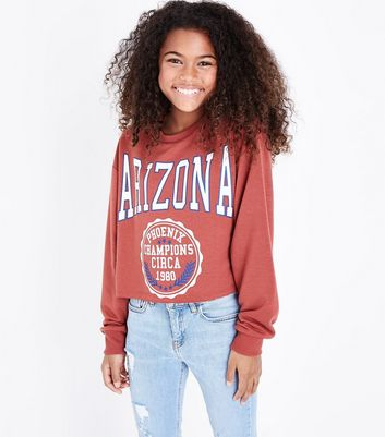 Teens Rust Arizona State Slogan Sweatshirt