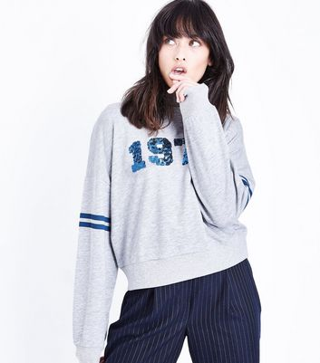 Grey 1974 Sequin Sweatshirt