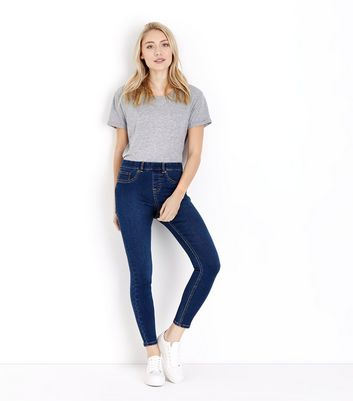 Petite Blue 26in Rinse Wash Jeggings