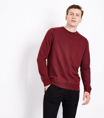 Red Textured Sweatshirt