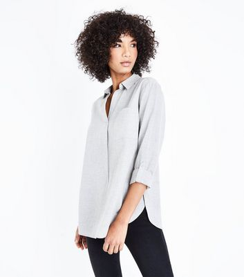 Grey Drop Arm Long Sleeve Shirt